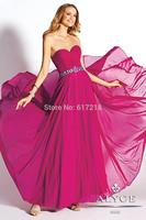 Free Shipping Fashion A-Line Strapless Long Chiffon Crystal Evening Dresses Women/Prom Dress/Party Dress