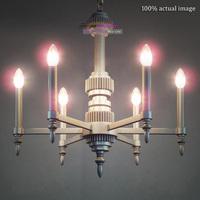 Free Shipping Modern Industrial Style Futuristic Metal+Aluminum Silver Mechanical aesthetics Pendant Light Suspension Lamp E14*6