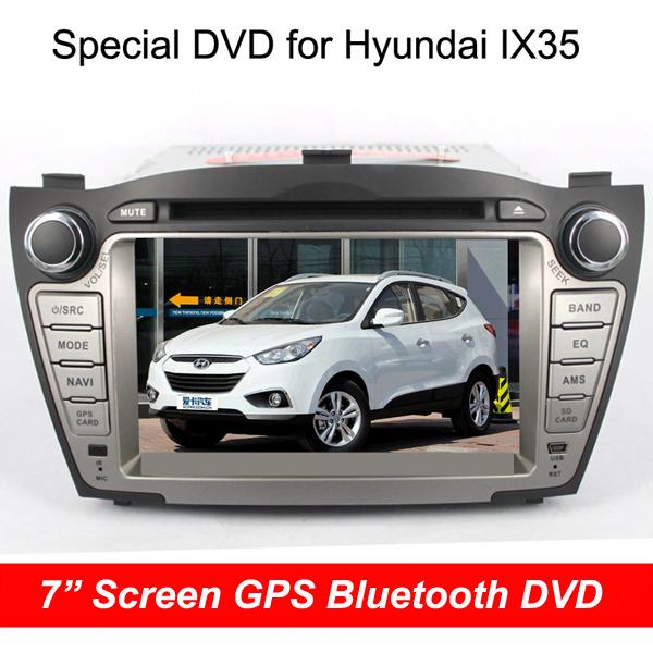 "Newest Car DVD GPS Player For Hyundai IX35 Navigation FM/AM Radio Bluetooth 7 "" Screen Map Free Shipping(China (Mainland))"