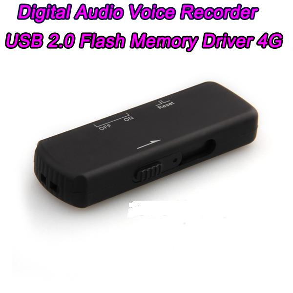 10PCS New Mini 4GB Voice Activated USB Digital Audio Voice Recorder Dictaphone gravador de voz USB Flash Drive Disk WAV Format(China (Mainland))