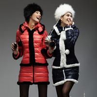 Imitation leather hat rabbit fur hat Russian fur hat with fake fox fur hat female winter snow cap