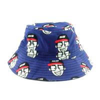 HOT sale 2014 new fashion fisherman caps  100% cotton bucket 58cm bucket hats  Color cartoon sun hat   Men fishing cap 58cm