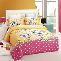 cat cartoon giraffe bedding set 100% cotton owl frog bedding  Quilt comforter cover duvet sets sheet cheetah child bedclothes