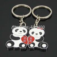 Lover Gift Panda Couple Keyring Keyfob Valentine's Day Keychain Ring
