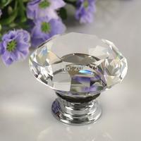 Free Shipping 10pcs diamond shape crystal drawer knob + screws for Kitchen Cabinet Handles