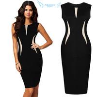 Super! 1PC Sexy Women Sleeveless Fashion Bodycon Party Pencil Dress Free Shipping&Wholesale Alipower Alipower