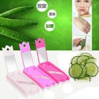 Novelty Beauty+Kitchen tool New 0.7mm Food Beauty Cabbage Cucumber Potato Steel Slicer Peeler Travel Household necessary