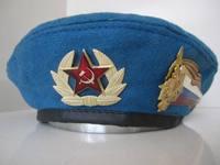 Russian Air Force beret / Russian blue beret with cap badge