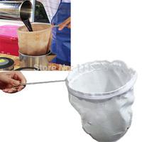 High Quality 1 Pcs/Lot White Color Nut Milk Tea Coffee Filter Net Bag Removed Fine Strainer 23cm x 30cm