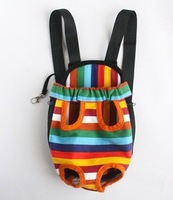 Small/Medium/Large Size Colorful Strip pattern Pet Legs Out front Carrier bag + Cosmos Cable Tie,Pet Product
