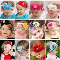 Baby hair accessories GIirls headband with crown Infant headbands Toddler Headband Newborn baby hair bow photo prop 10pcs HB283