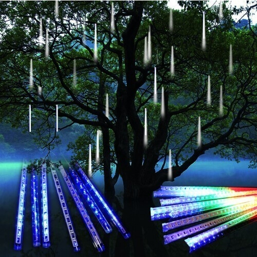 Free Shipping! Hot New Arrival Fancy Beautiful Meteor Shower Falling Star/Rain Drop/Icicle Snow Fall LED Xmas Tree String Light(China (Mainland))