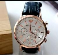 fashion Watches Men luxury brand quartz watch business casual leather strap calendar watch men vogue wristwatches ar watch