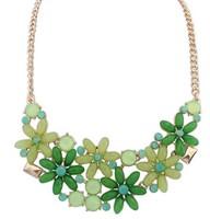 2014 New Style Western Statement Fashion chain pendant Choker Women Flowers Necklace Jewelry Hot Wholesales great gift