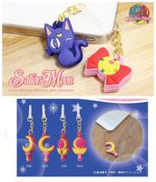 4pcs Sailor Moon dust plug universal 3.5mm silicone jack dust plug Pluggy