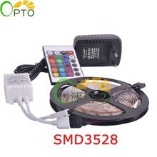 LED strip light 3528SMD Fiexble Light 60LED/M 5M DC 12V,LED Strip Power 2A Free shipping RGB(China (Mainland))