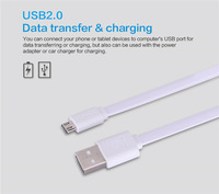 Nillkin universal flat Micro USB 2.0 date cable 120cm 5V 2A quick charge cable for Samsung/Lenovo/xiaomi +package