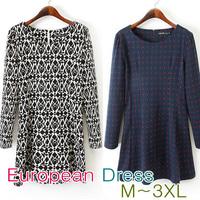 2014 Newest American Style Women's Back Zipper Dress M-XXXL PLUS SIZE/Free Shipping/Shirt/One-piece Dress/Top