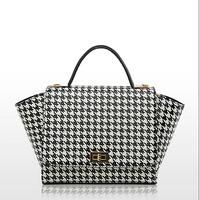 Fashion hounds thooth women tote new autumn and winter style handbag elegant OL shoulder bag contrast color messenger bag