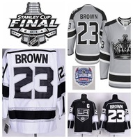 Stadium Series Cheap LA Kings Hockey Jerseys 23 Dustin Brown Jersey Silver Ash Grey LA Kings Stitched Jerseys C Patch- Free Ship