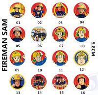 NEW ARRIVAL Boy favorite cartoon design Fireman SAM badge for school backpack t shirts decoration  8pcs / LOT Free shipping