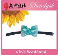 fashion  rhinestone bow stretch kids  headband