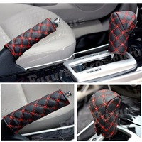 In Stock 2pcs/set Sales Auto Car Parking Brake Set Gears Set Handbrake Cover General twinset Car Interior Accessories Decoration