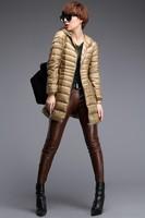 2014 brand style winter coat women solid color slim down parka long women overcoat outerwear coat elegant womens down jacket