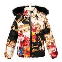 Italy brand 2014 new children's jacket coats girls winter keep warm outerwear kids designer parkas