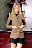 European brand 2014 trendy collar short section thin winter down garment