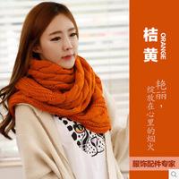 Long wholesale knit scarf women striped patttern winter scarf women wool design pretty multicolor knitted acrylic scarf