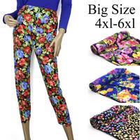 Fashion women's Printed warm pants legging autumn and winter long johns women's  big size 4xl 5xl 6xl  Free Shipping