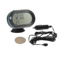 1pcs White Screen Car Digital LCD Monitor Thermometer Voltage Alarm Clock 12V-24V