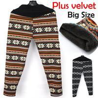 Ladies Winter Retro Knitted Snowflakes Multi-Colors Figure Leggings 2014 Fashion Warm Leggings Free shipping
