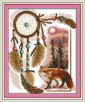 Totem (fox) Counted Cross Stitch 11CT 14CT DMC Cross Stitch Sets DIY Cross Stitch Kits for Embroidery Home Decor Needlework