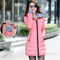 Women's cotton-padded jacket 2014 winter medium-long down cotton  jacket female slim ladies jackets and coats