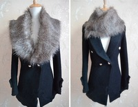2014 autumn and winter new fashion korean soft elegant  faux fur collar wool shawl G251