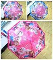 2014 HOT 5PCS / LOT candy color girl Frozen Elsa Anna lace nylon Frozen cartoon children umbrella Straight