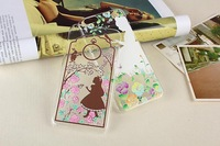 New Princess Snow White Mermaid Ariel Cinderella Alice Ultrathin 0.5mm TPU Clear Case Cover For iphone 6 4.7 inch,Free shipping