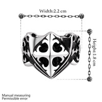 Hot Sale cool cross rings for men wholesale fashion men jewelry punk style finger ring 316L stainless steel rings YR018