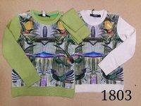 014 New winter autumn fashion print baby sweater boy girl sweater kids O-Neck sweater children outerwear sweater Drop Ship 2-12Y