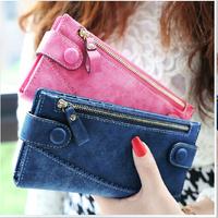2014 New Fashion Vintage Frosted Smiley Female Wallet Women Brand Casual Long Purse Clutch Women Zipper & Hasp Handbag Carteira