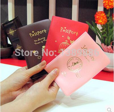 Iconic contracted cortex passport holder - passport passport bag creative and beautiful travel passport 1pc(China (Mainland))