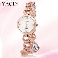 New Ladies quartz watch women luxury brand analog with love you design bracelet with free shipping