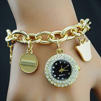 New fashion leather bracelet watches women rhinestone watches for women dress watches quartz watch AW-SB-1060