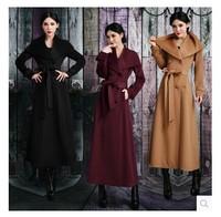 High Quality Fashion winter thickening overcoat vintage slim overcoat woolen outerwear women's coats coat women
