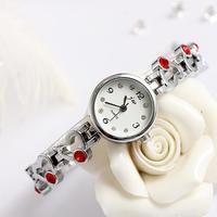 High quality fashion heart design colorful diamonds quartz women watches ladies watch bracelet stainless steel wristwatch