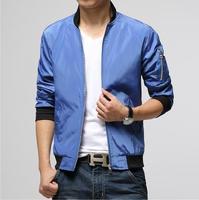 2014 New Autumn Casual Metal Zipper jacket Men's silm fit outwear coat veste homme Jackets plus size M-3XL H651