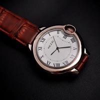 Classic Brand Designer Men Dress Watches Vintage Roman Analog Wristwatch Fashion Business Style Leather Clock Reloj 1ATM NW1736
