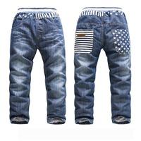 Fleece Boys Jeans Warm Kids Pant For Winter